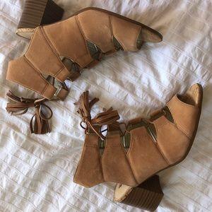 Sam Edelman | Brown Suede Lace Up Heels | 6.5